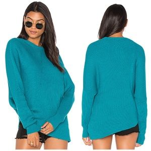 New Free People Asymmetrical Ribbed Knit Sweater